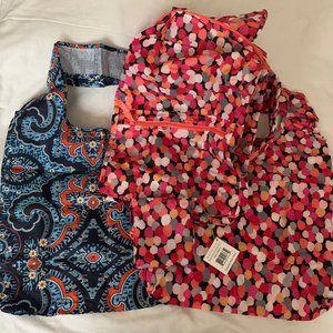 VERA BRADLEY Packable Backpack & Tote Bags Set